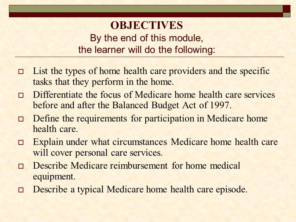 Which of the following best describes the Medicare home health care skilled need.