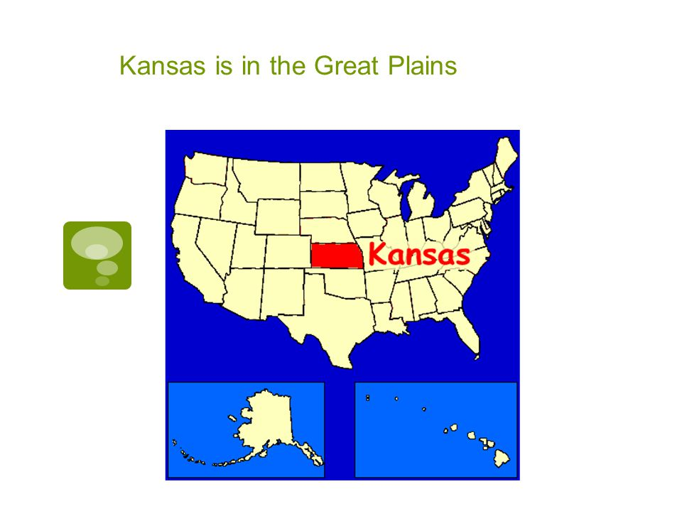 Farmland  There are many farms in Kansas.
