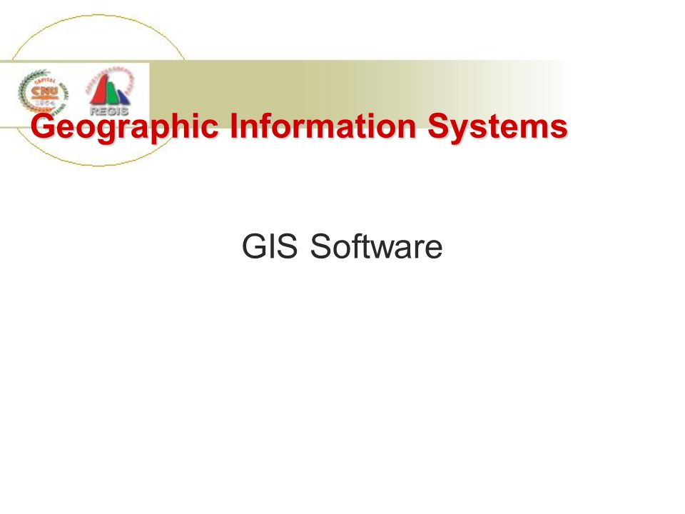 Geographic Information Systems GIS Software