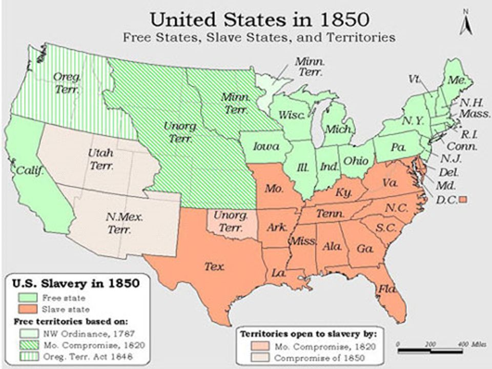 Compromise of 1850 Controversial Clay, Webster vs Calhoun  Compromise saves UNION  South: Equal rights in acquired territory  Northern Opposition: Sen.