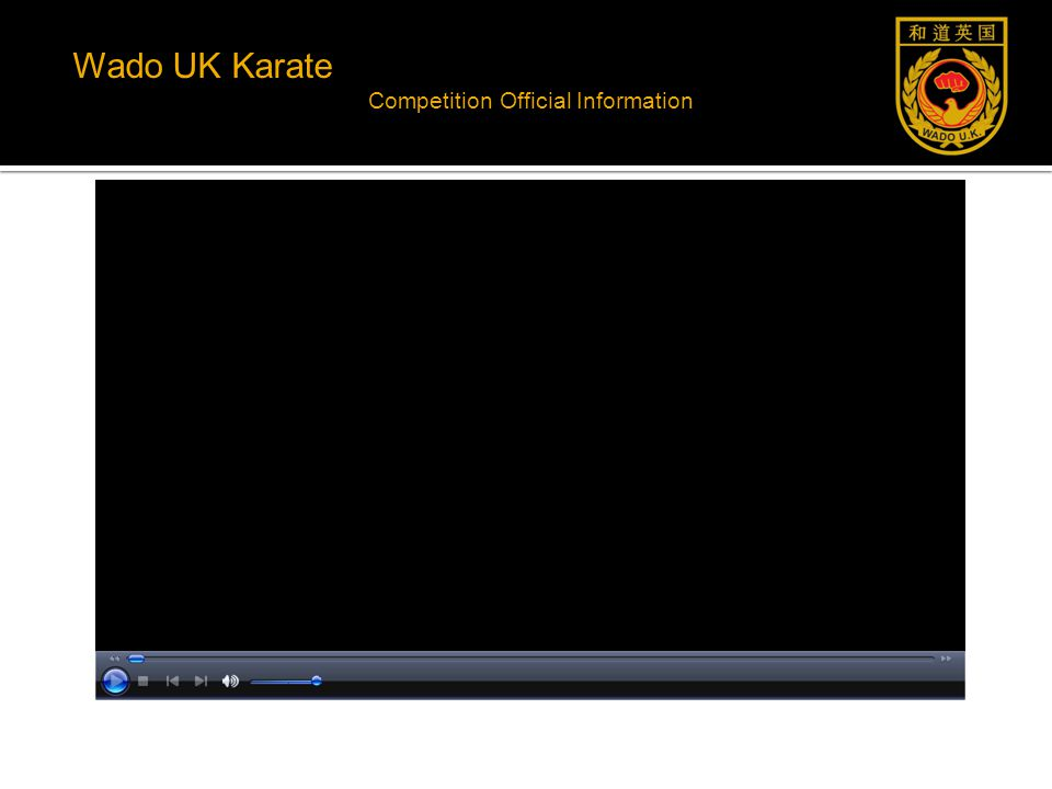 Wado UK Karate Competition Official Information