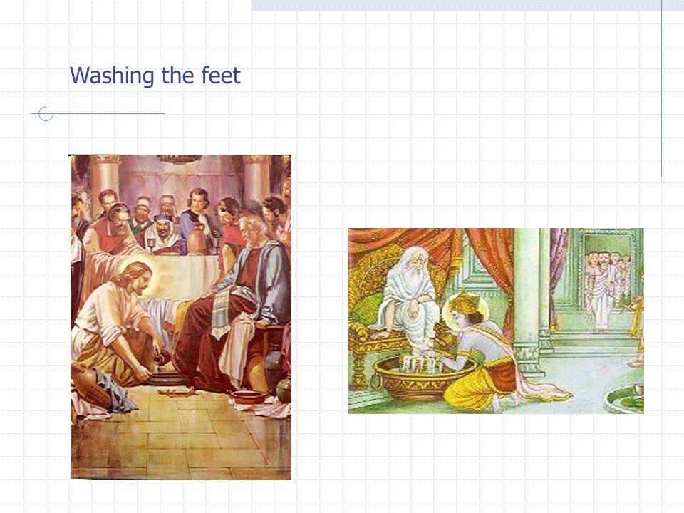 Washing the feet