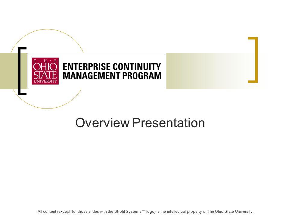 Agenda: Continuity Planning Overview Program Methodology LDRPS Software Potential Next Steps