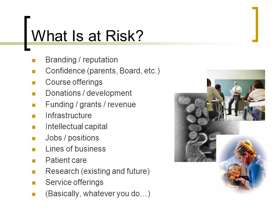 What Is at Risk.