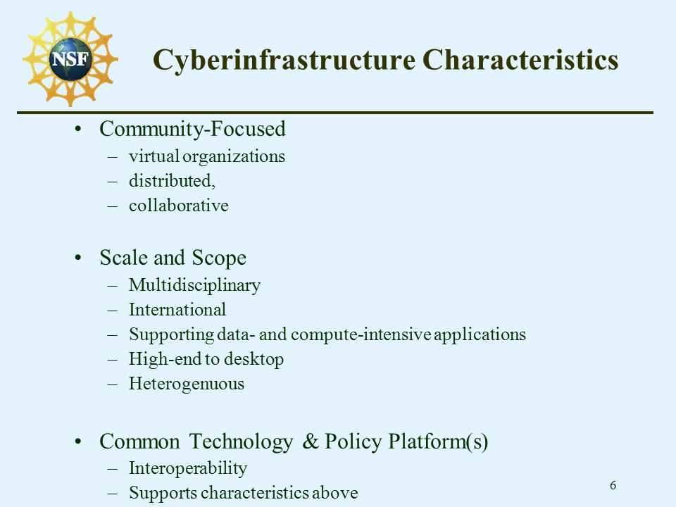 17 Network Research Testbeds Characteristics –Disruptive technologies and approaches –Hybrid and experimental designs –End-device research –Core technology development –New protocol research –Alternative network architectures –Testbed implementations $9M spent in 2003 funds 10 awards given (3 are collaborative)