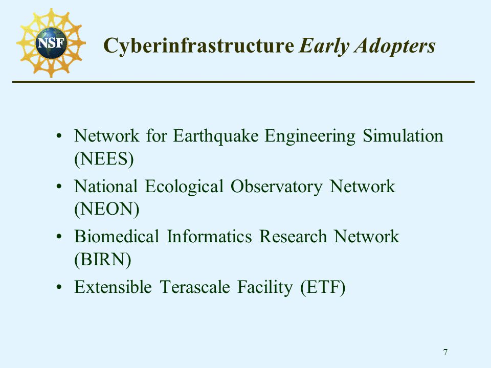 8 CalTechArgonne Extensible Terascale Facility A Heterogenuous Grid Environment SDSC Los Angeles Chicago NCSA PSC Existing ETF Partners Hubs New Partners