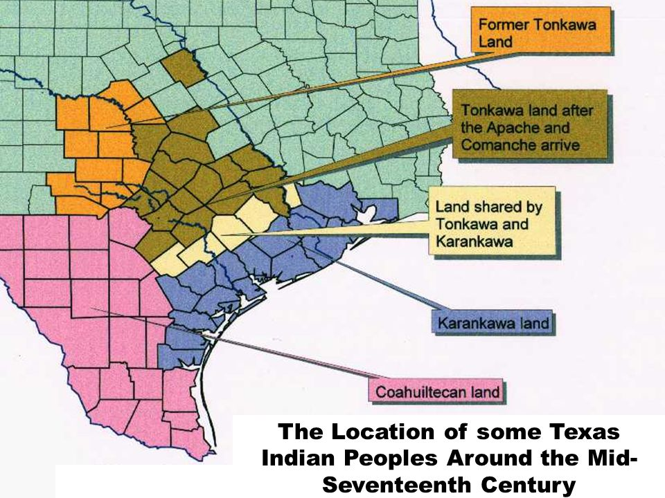 The Location of some Texas Indian Peoples Around the Mid- Seventeenth Century