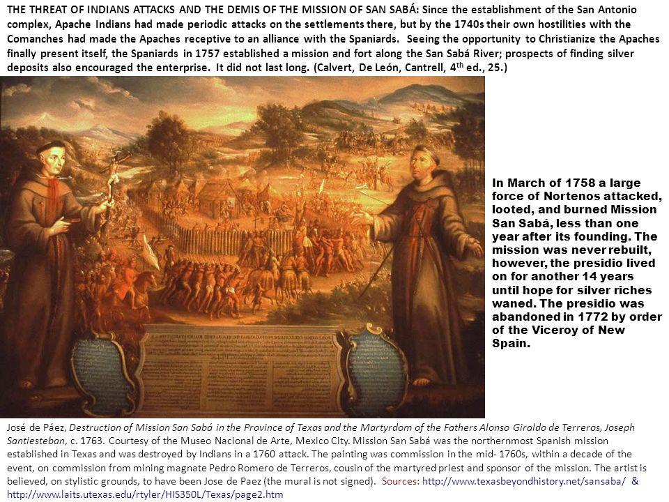 José de Páez, Destruction of Mission San Sabá in the Province of Texas and the Martyrdom of the Fathers Alonso Giraldo de Terreros, Joseph Santiesteba