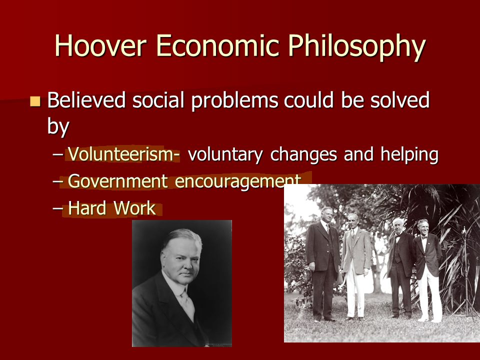 The Great Depression Hoover Elected 1928 Hoover Elected 1928 Calvin Coolidge decided not to run.