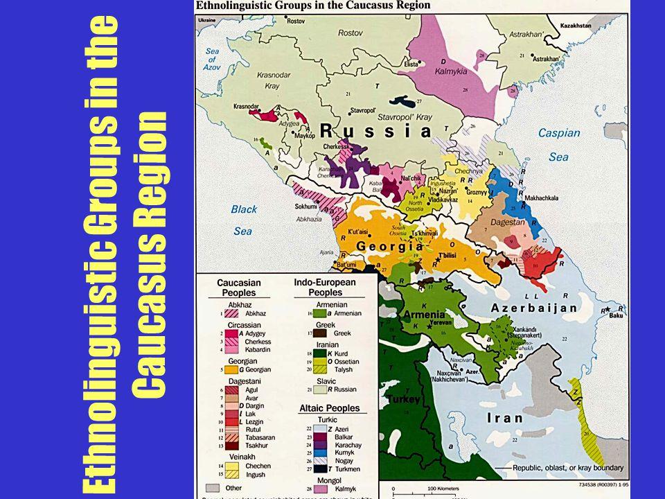 Ethnolinguistic Groups in the Caucasus Region