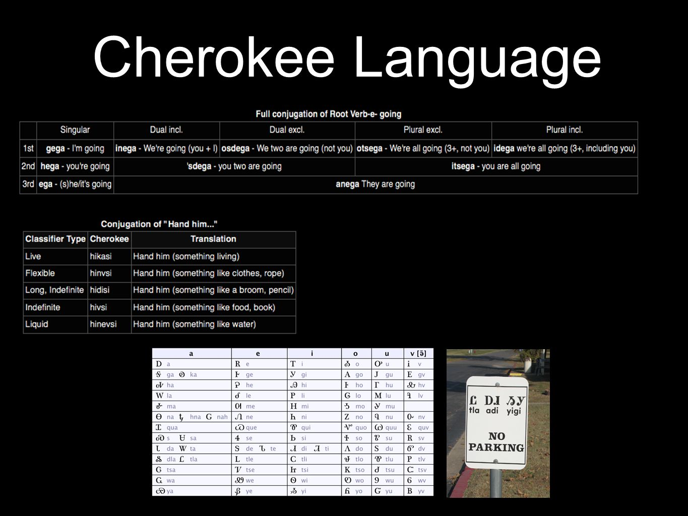 Iroquoian Languages Southern Iroquoian Cherokee (12,000 - 20,000 speakers) Northern Iroquoian Lakes Iroquoian Five Nations and Susquehannock Seneca-On