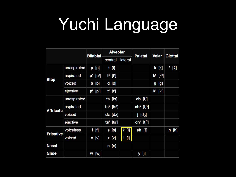 Yuchi Language A.