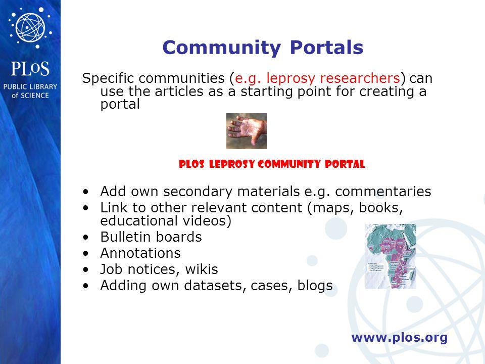 Community Portals Specific communities (e.g.