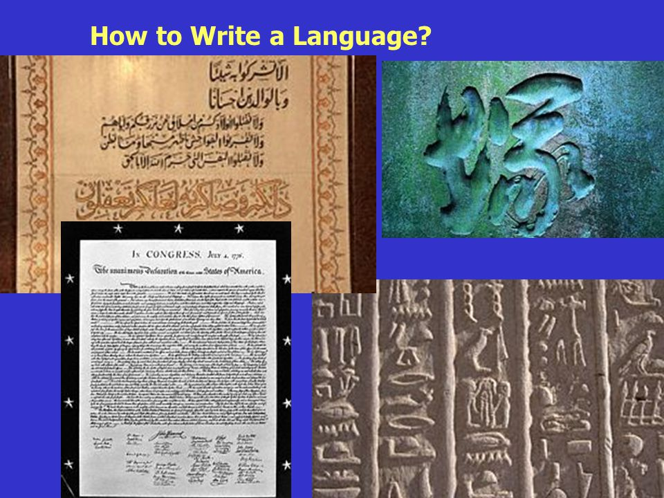 Roots of Language How to Write a Language
