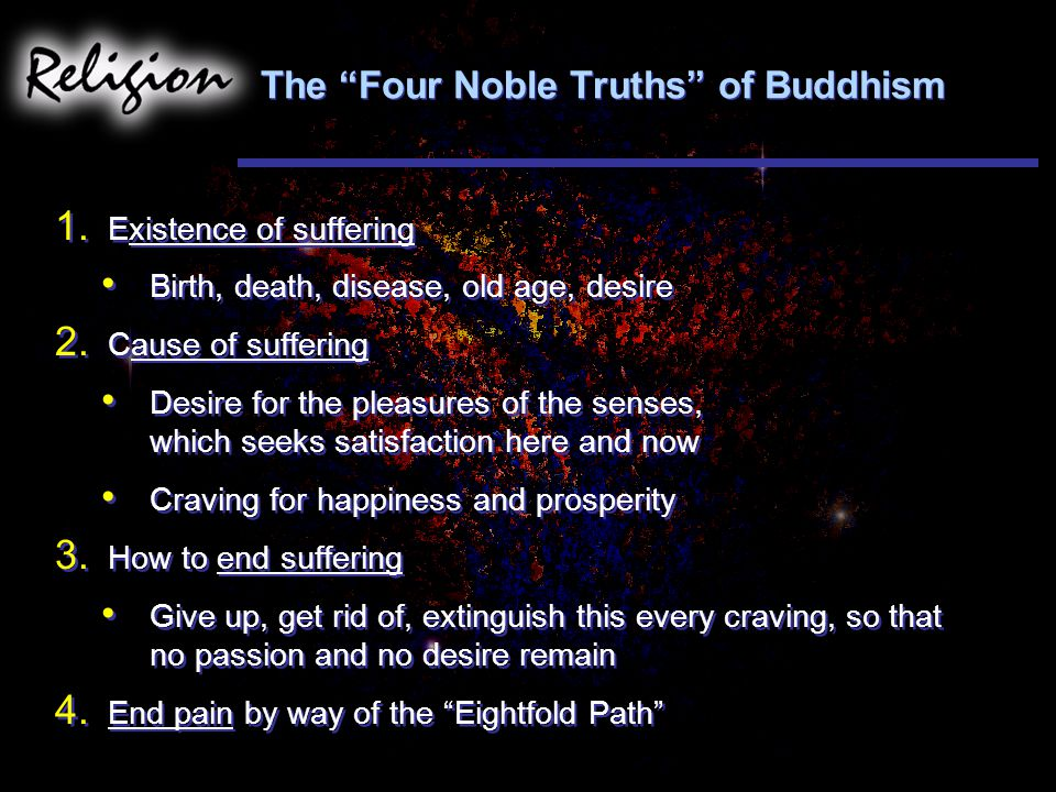 The Four Noble Truths of Buddhism 1.