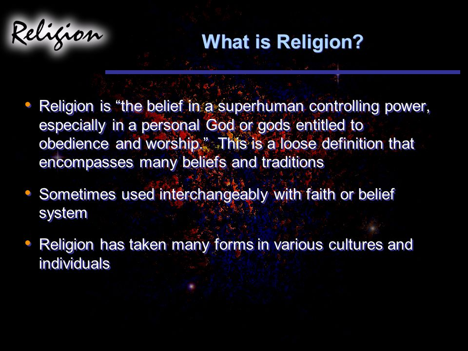 What is Religion.