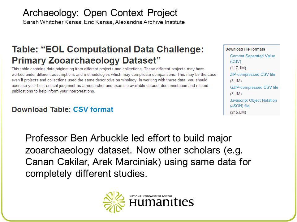 Professor Ben Arbuckle led effort to build major zooarchaeology dataset.
