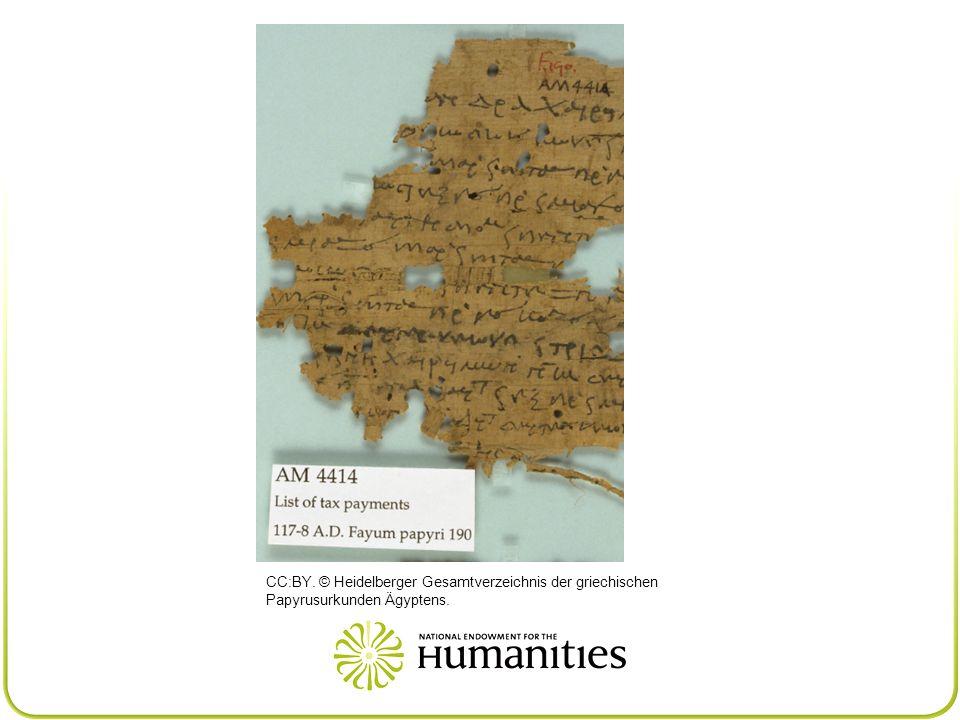 CC:BY. © Heidelberger Gesamtverzeichnis der griechischen Papyrusurkunden Ägyptens.