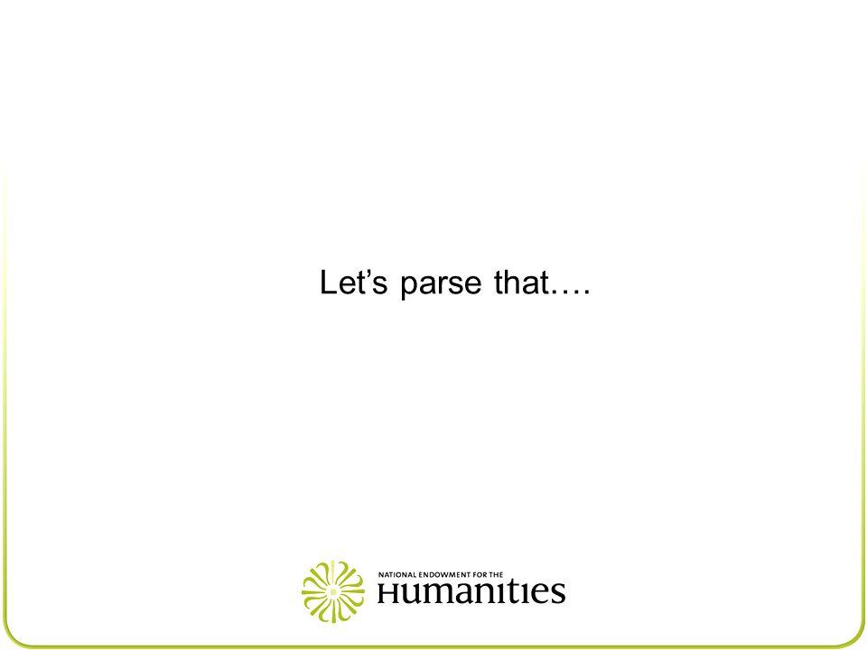 Let's parse that….