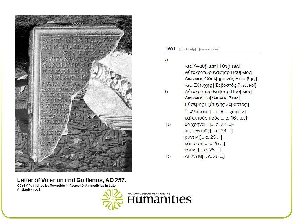Letter of Valerian and Gallienus, AD 257.