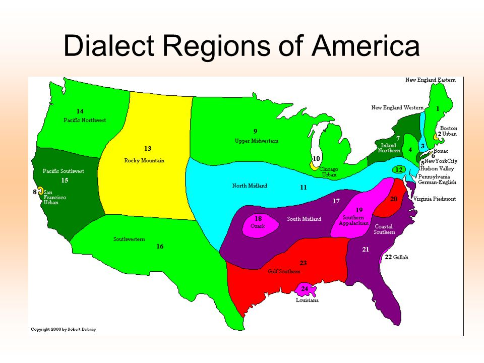 Dialect Regions of America