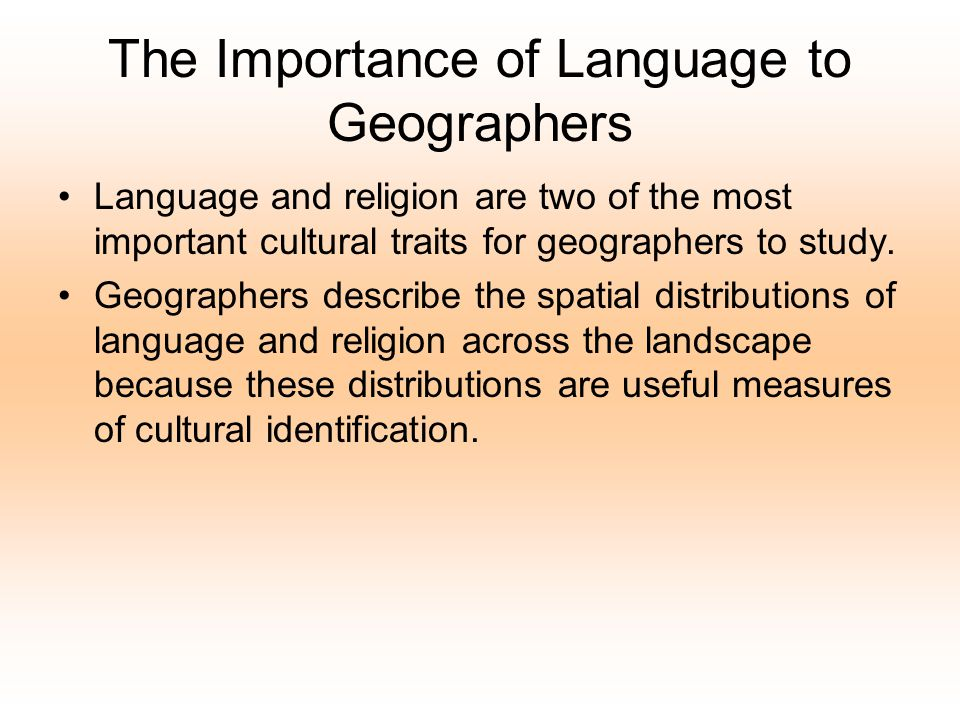 Languages and Language Families