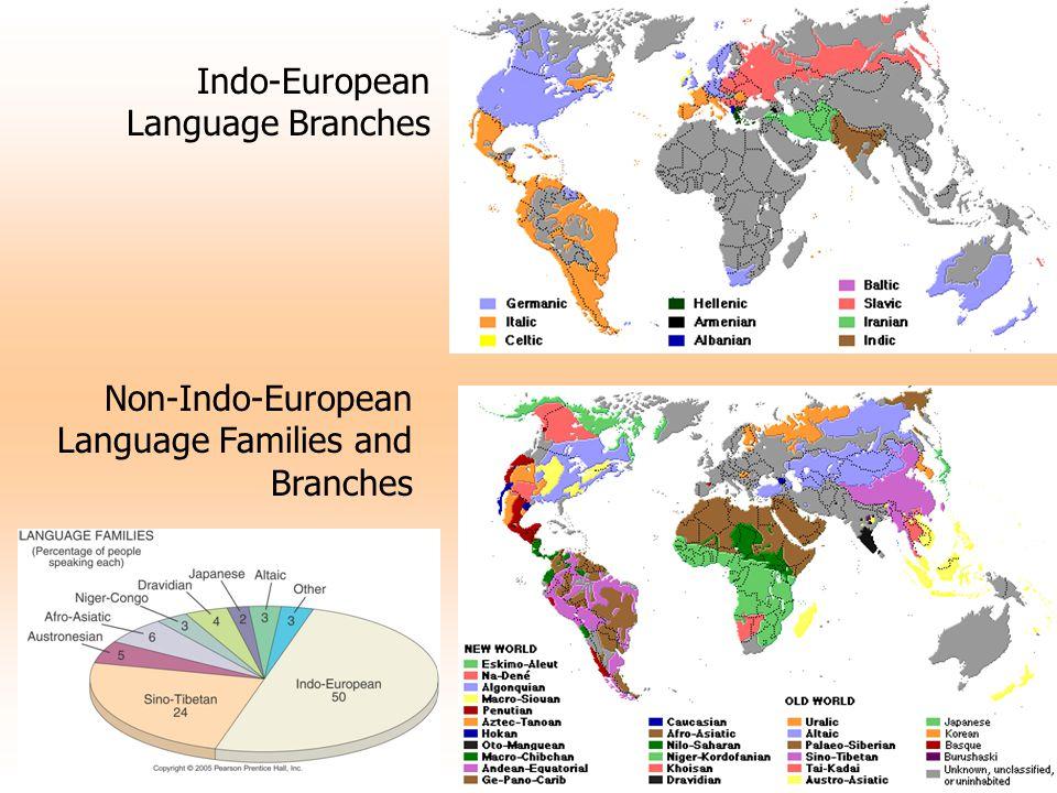 Indo-European Language Branches Non-Indo-European Language Families and Branches
