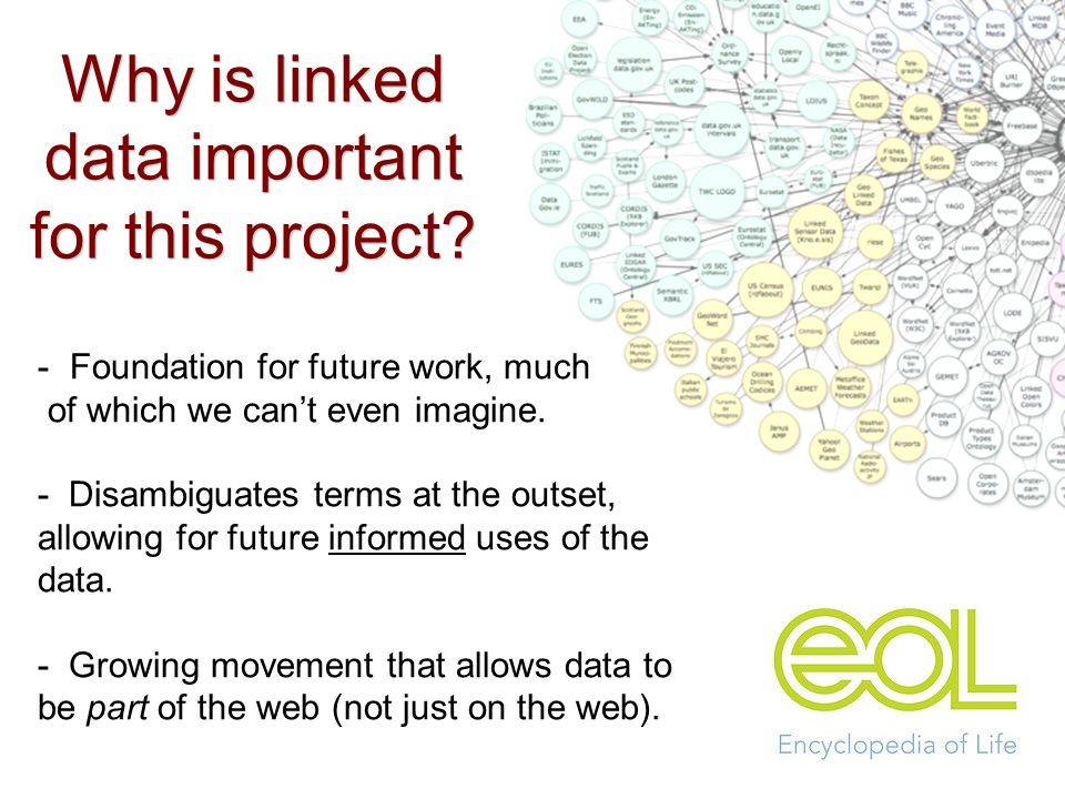 - Foundation for future work, much of which we can't even imagine.