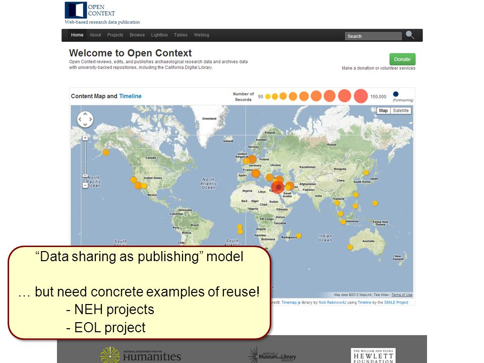 Data sharing as publishing model … but need concrete examples of reuse.
