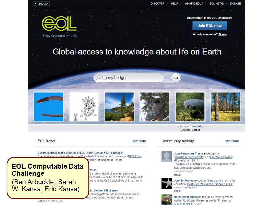 EOL Computable Data Challenge (Ben Arbuckle, Sarah W. Kansa, Eric Kansa)