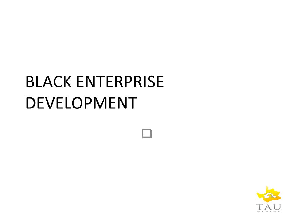 BLACK ENTERPRISE DEVELOPMENT 
