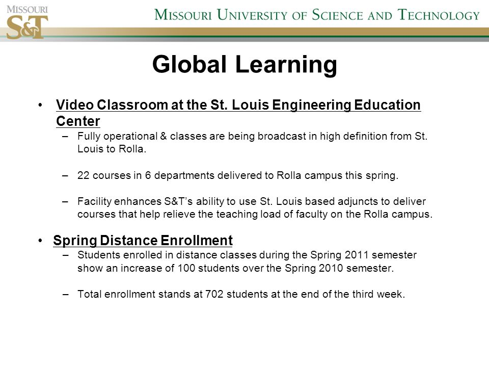 Global Learning Video Classroom at the St.