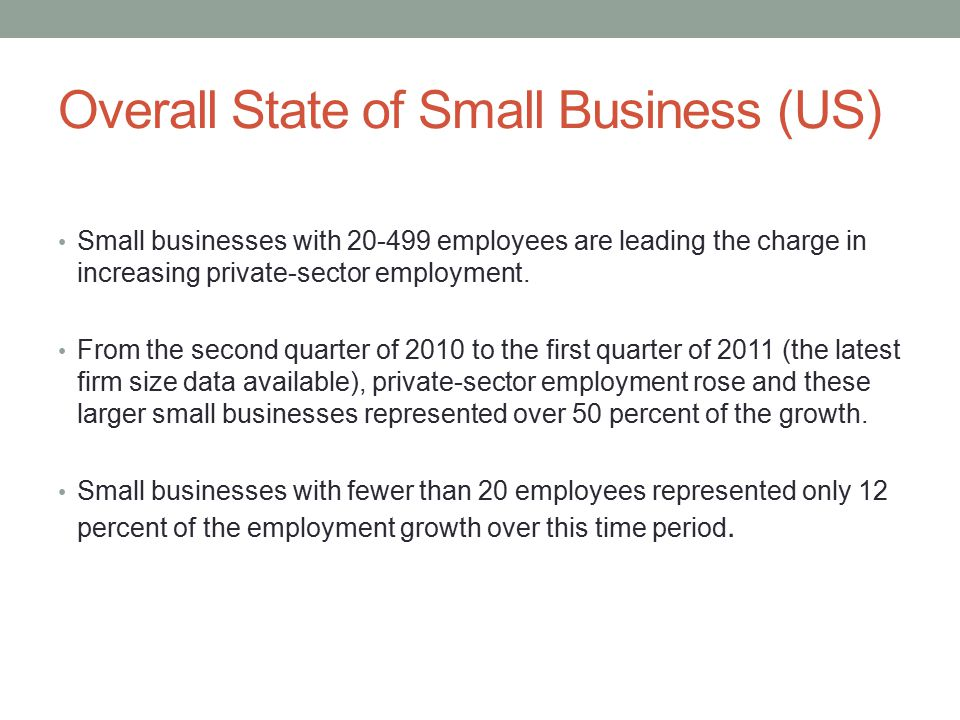 Small businesses with 20-499 employees are leading the charge in increasing private-sector employment.