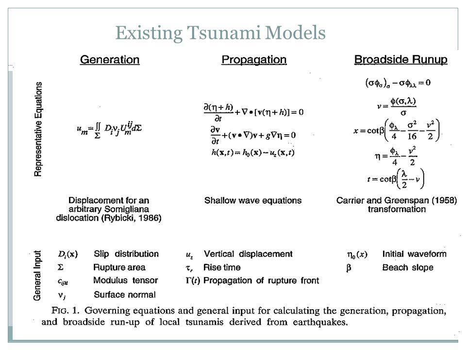 Existing Tsunami Models