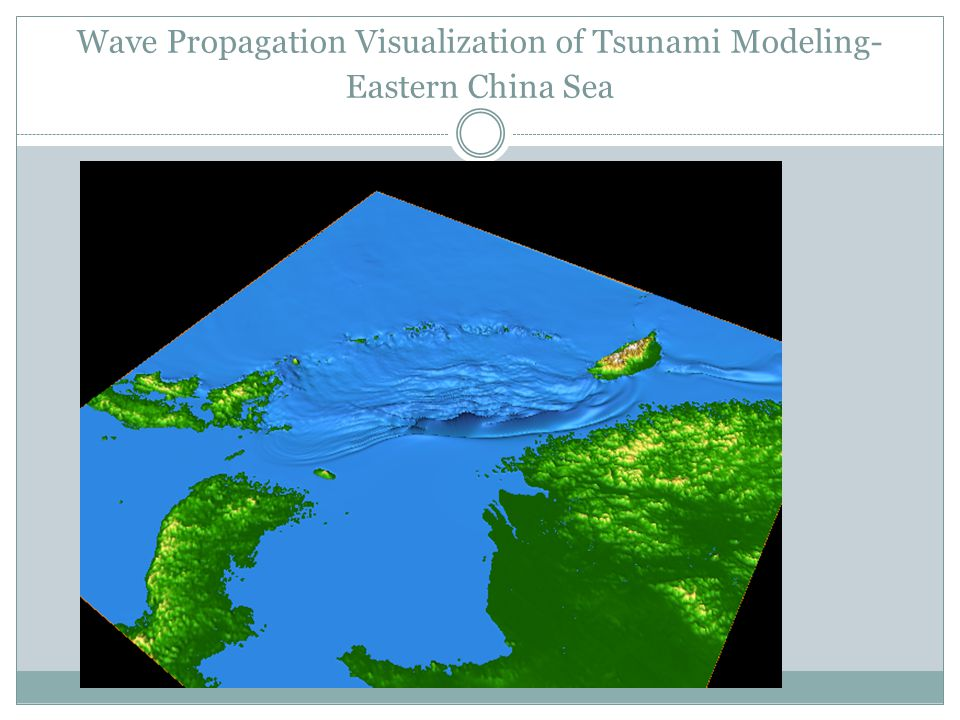 Wave Propagation Visualization of Tsunami Modeling- Eastern China Sea
