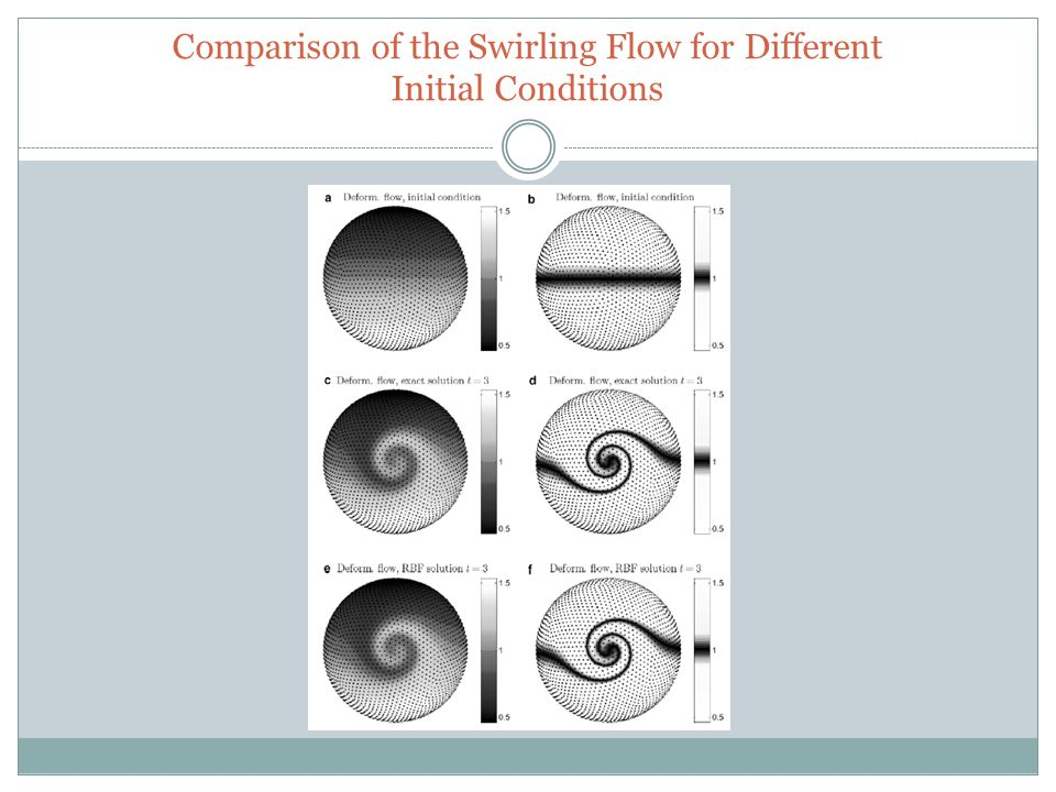 Comparison of the Swirling Flow for Different Initial Conditions