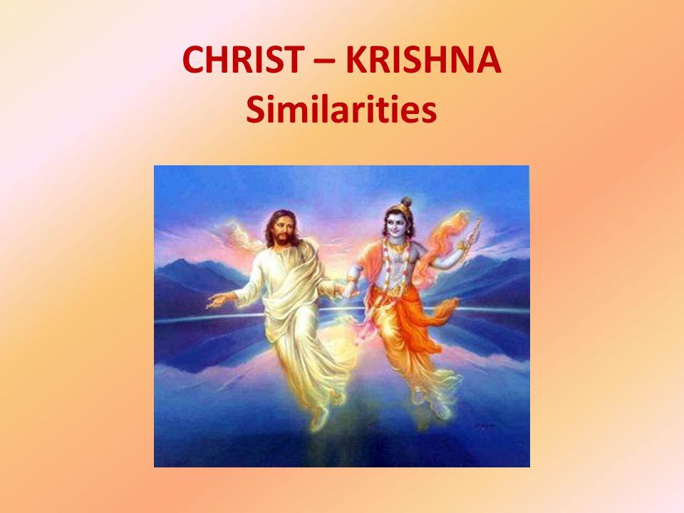 CHRIST – KRISHNA Similarities