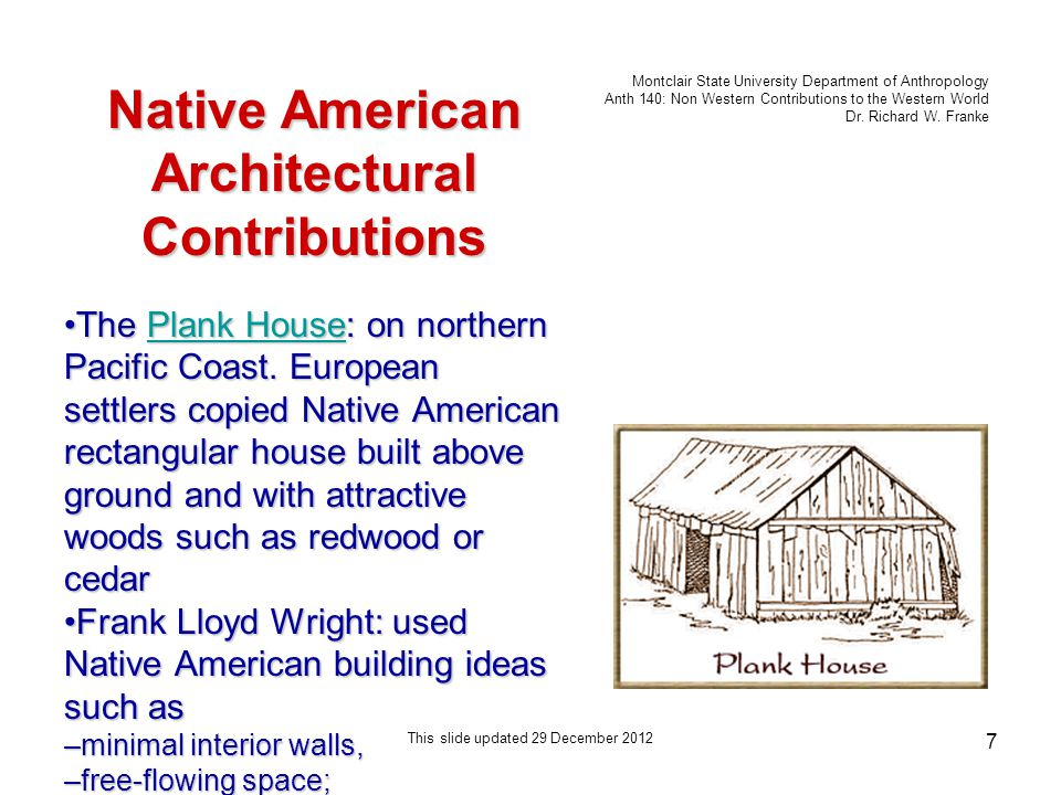 Montclair State University Department of Anthropology Anth 140: Non Western Contributions to the Western World Dr.