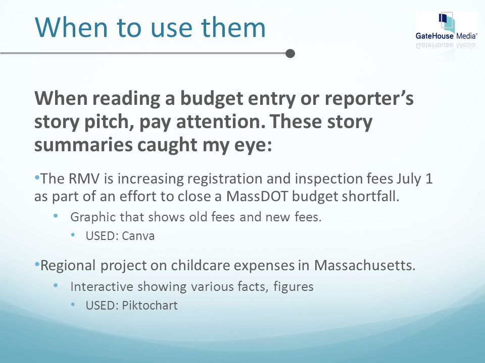 When reading a budget entry or reporter's story pitch, pay attention.