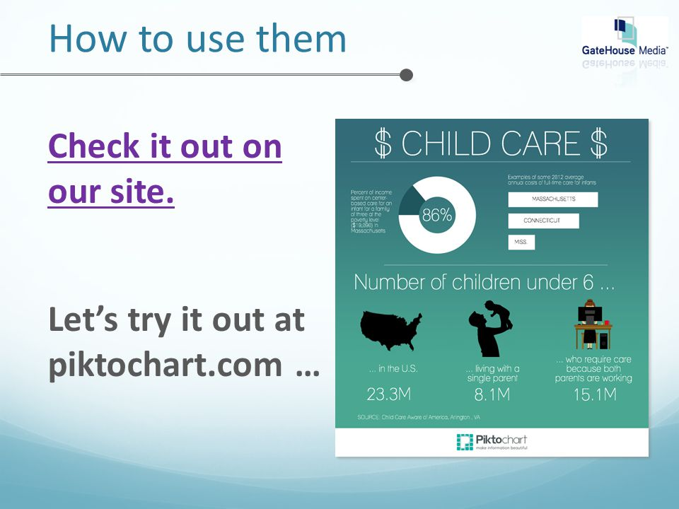 How to use them Check it out on our site. Let's try it out at piktochart.com …