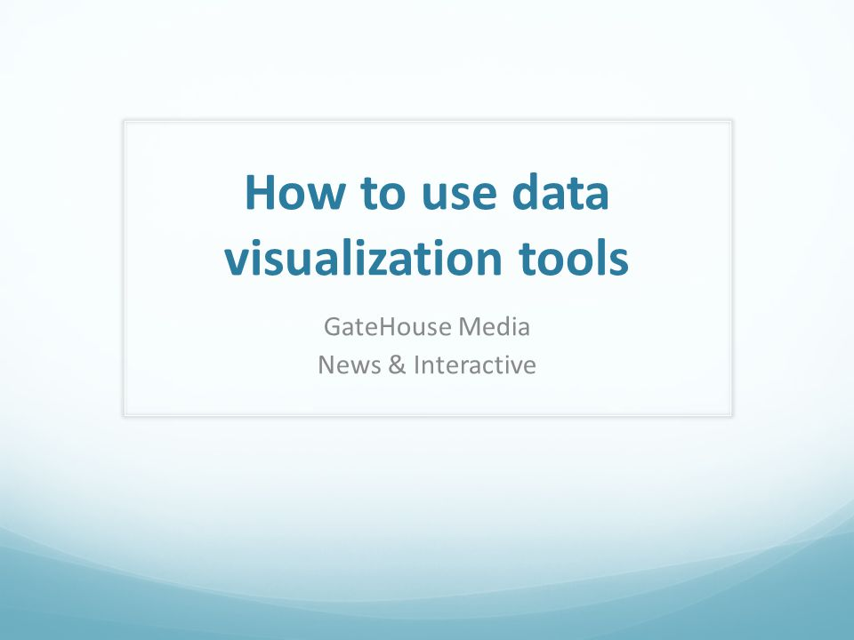 How to use data visualization tools GateHouse Media News & Interactive