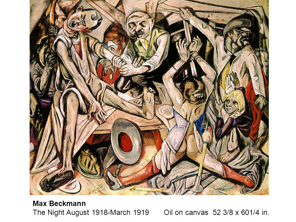 Max Beckmann The Night August 1918-March 1919 Oil on canvas 52 3/8 x 601/4 in.