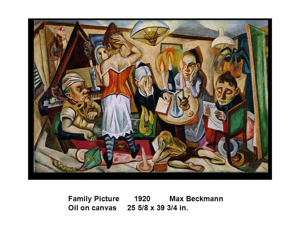 Family Picture 1920 Max Beckmann Oil on canvas 25 5/8 x 39 3/4 in.