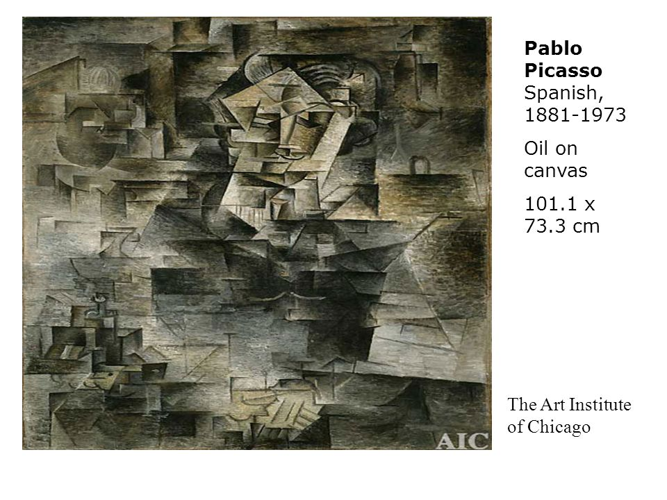 Pablo Picasso Spanish, 1881-1973 Oil on canvas 101.1 x 73.3 cm The Art Institute of Chicago