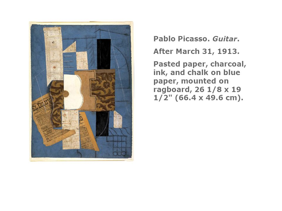 Pablo Picasso. Guitar. After March 31, 1913.