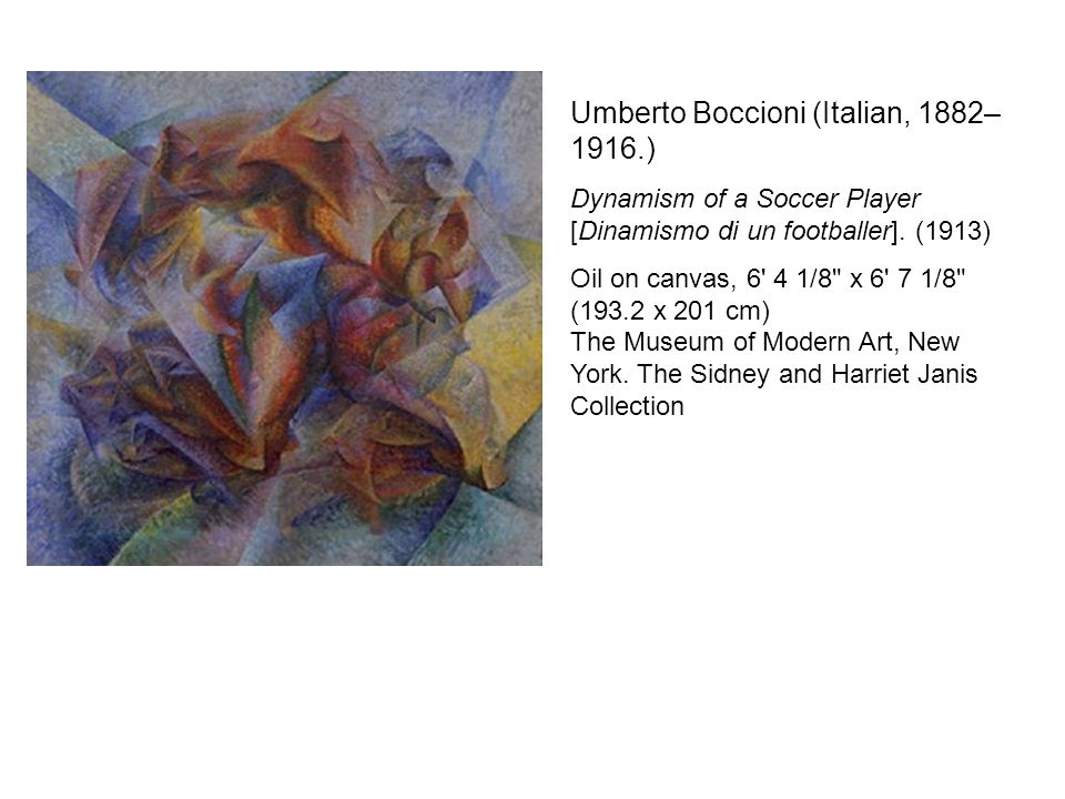 Umberto Boccioni (Italian, 1882– 1916.) Dynamism of a Soccer Player [Dinamismo di un footballer].