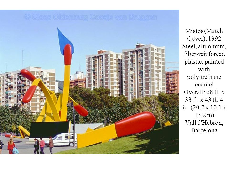 Mistos (Match Cover), 1992 Steel, aluminum, fiber-reinforced plastic; painted with polyurethane enamel Overall: 68 ft.