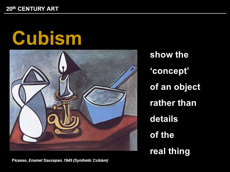 CUBISM & PICASSO REVOLUTIONARY STYLE response to a world that was changing with unprecedented speed aim was to develop a new way of seeing reflecting the modern age Analytical Cubism Invented by Picasso and George Braque