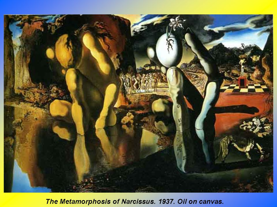 The Metamorphosis of Narcissus. 1937. Oil on canvas.