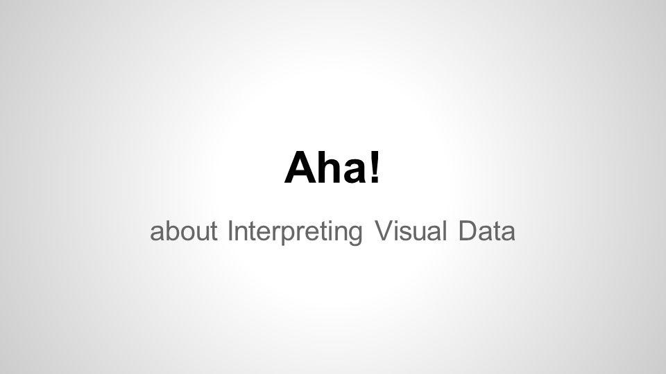 Aha! about Interpreting Visual Data